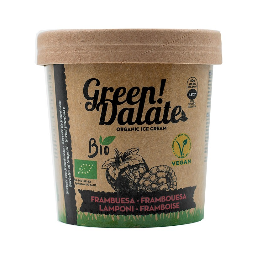 Sorbete Vegano Green Dalate Frambuesa 350ml